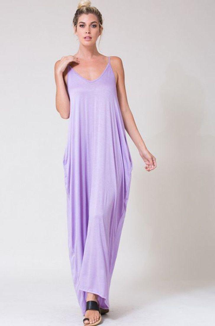 e4df09c021899 Harem Maxi Dress with Pockets in Lavendar | my puRPLE stuff ...