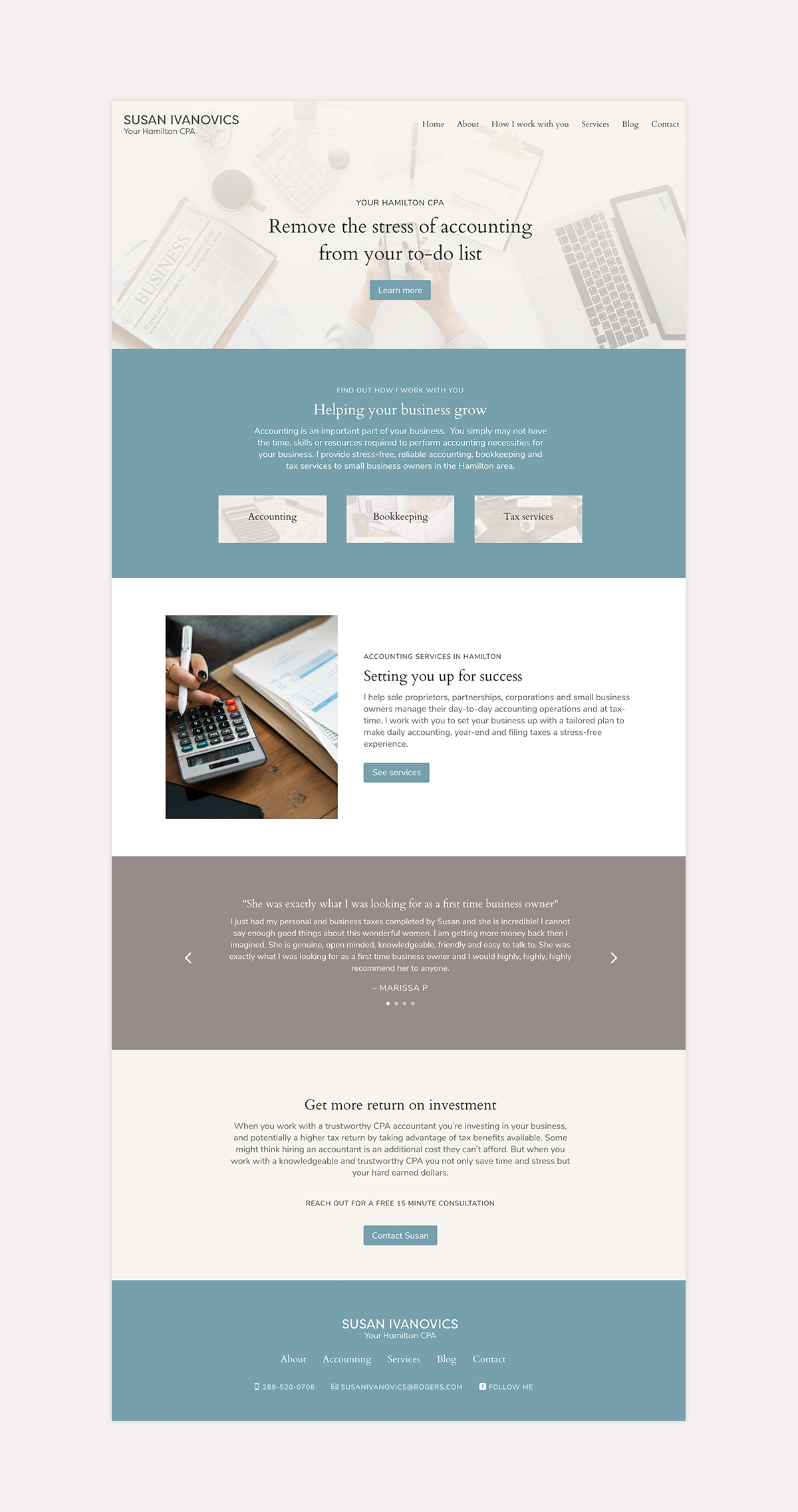 Relaxing Website Design For Small Business Accountant In 2020 Business Website Design Accounting Website Design Inspiration