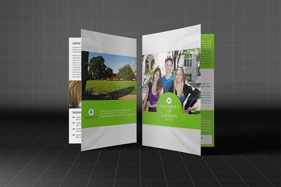 College Or University Bifold Brochure template, Brochures and