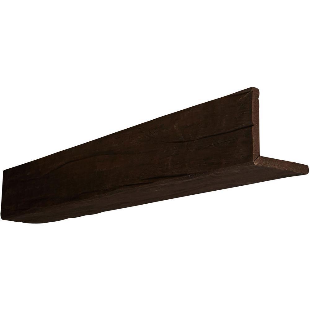 Ekena Millwork 12 In X 10 In X 8 Ft 2 Sided L Beam Riverwood Espresso Finish Faux Wood Beam Bmrw2c0100x120x096es Faux Wood Beams Wood Ceilings Wood Beams
