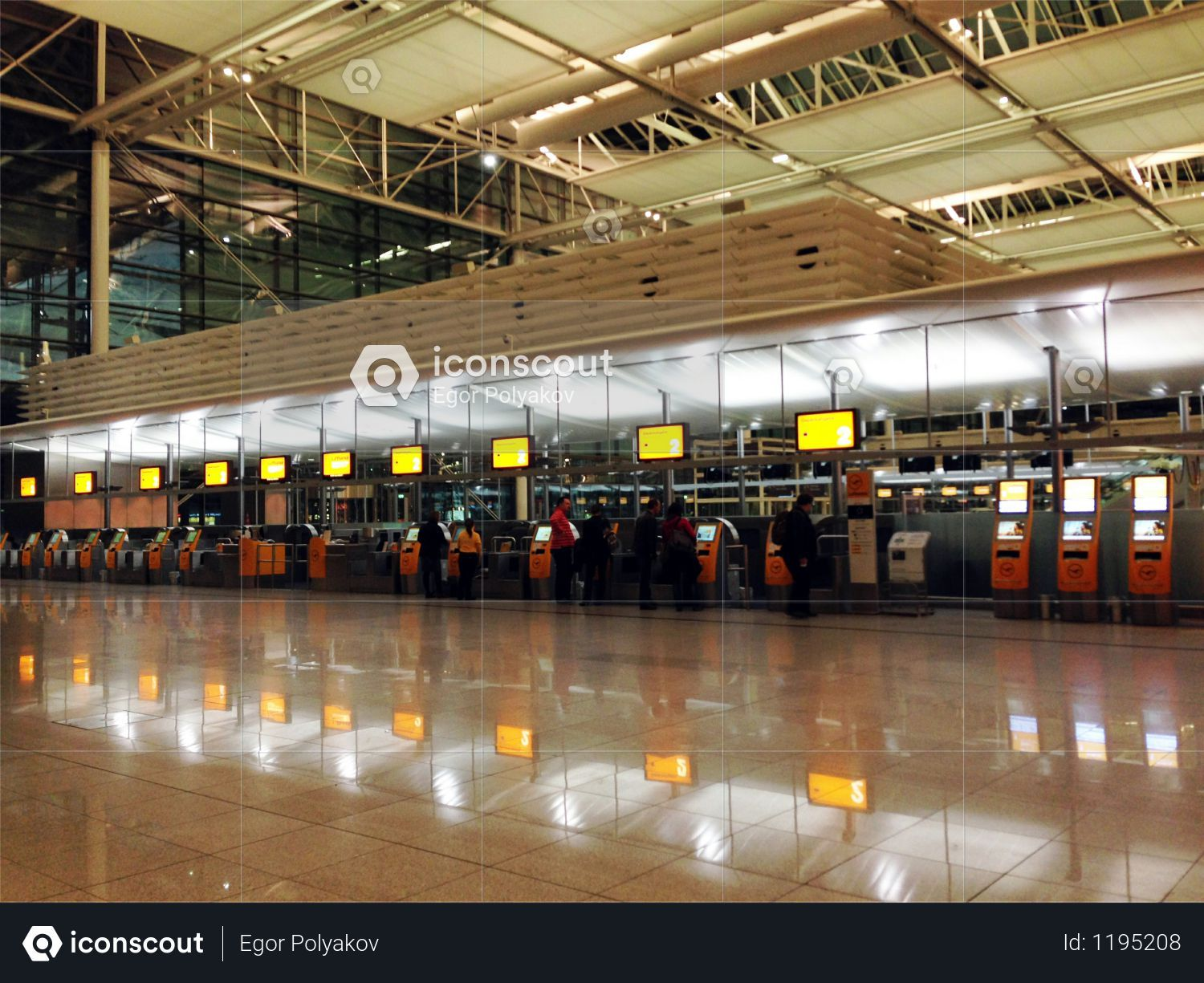 Terminals Of Arrival At Munchen Airport Photo Editorial Photos