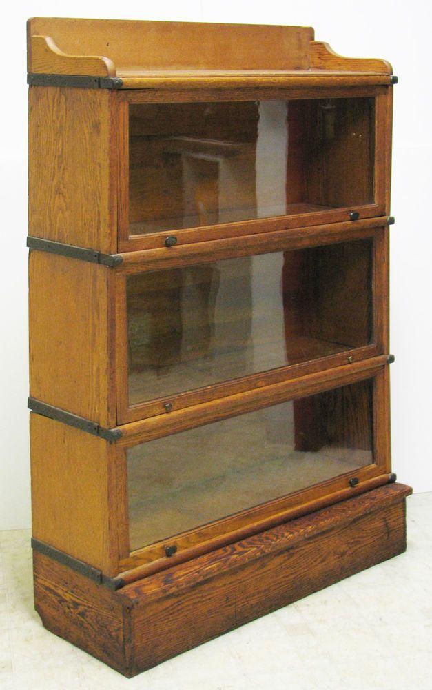 1897 Wernieke Stacking Barrister Bookcase 5 Piece Quartersawn