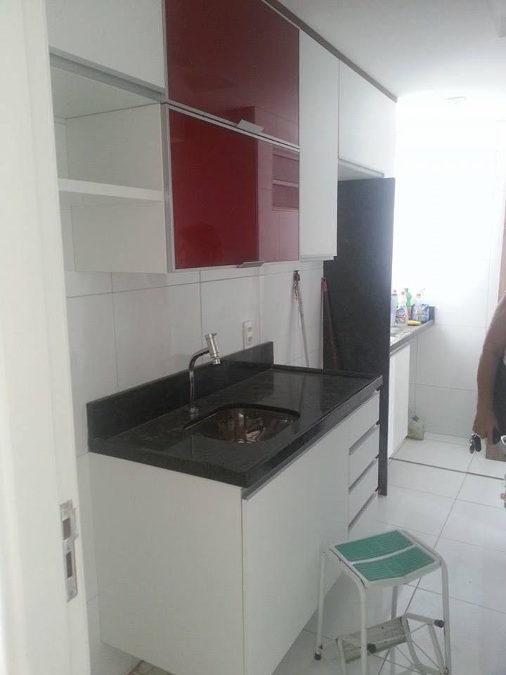 Projeto sendo executado da cozinha de uma cliente. Feito inicialmente pelo Promob. Cliente satisfeita.