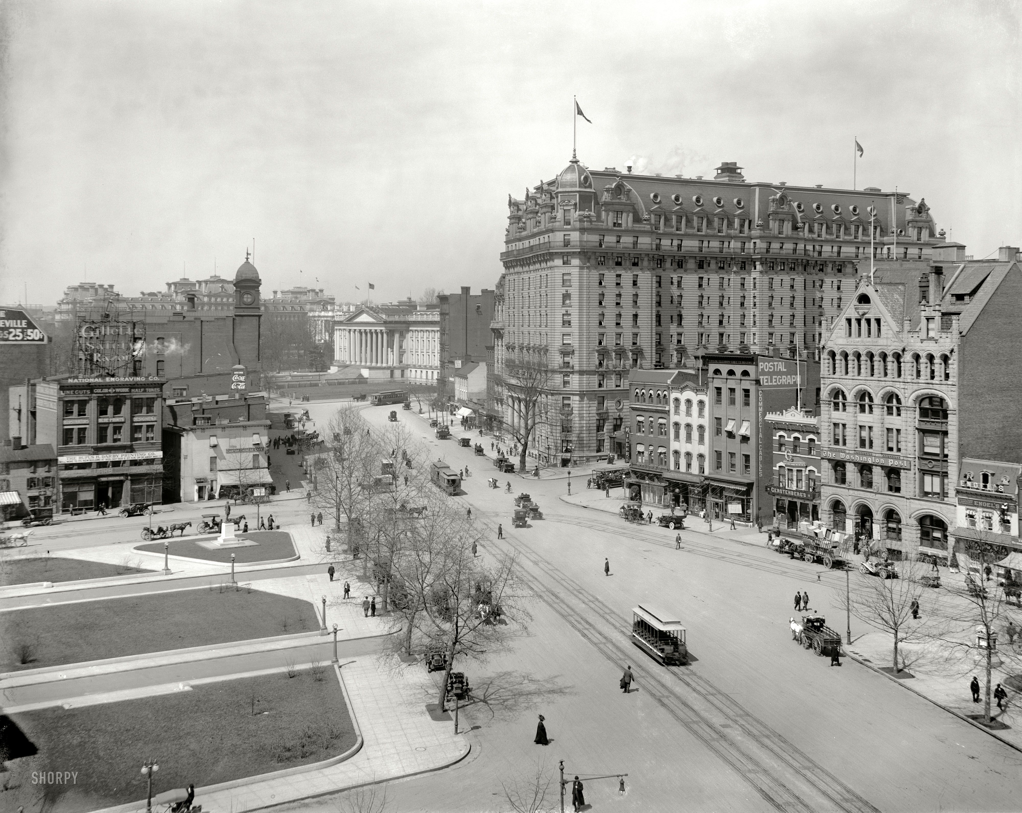 C 1910 Pennsylvania Avenue West From The Old Post