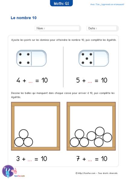 Épinglé sur Mathématiques Maternelle Grande Section Fiches PDF