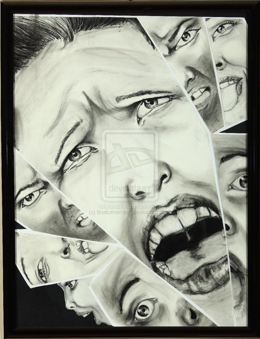 Broken mirror of expressions tinatur collage 1 for Mirror drawing