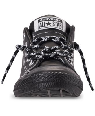 a195d524a79d Converse Little Boys  Chuck Taylor All Star Street Hiker Mid Casual Sneakers  from Finish Line - Black 2.5