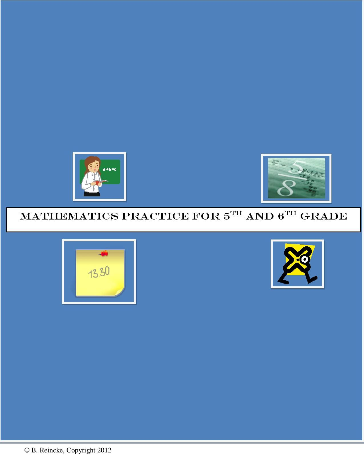 112 Math Worksheets for 5th or 6th Grade (Decimals, Fractions, etc ...