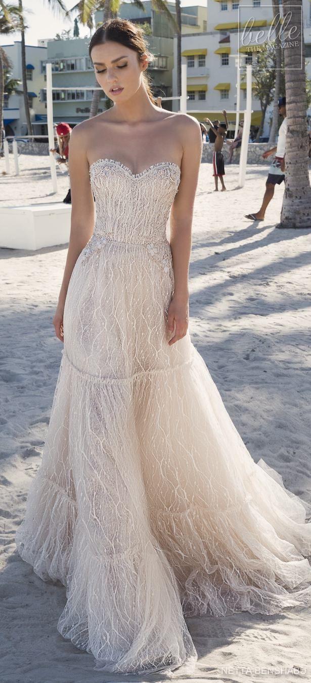 Fleur wedding dress  Netta BenShabu Wedding Dress Collection  Une Fleur Sauvage