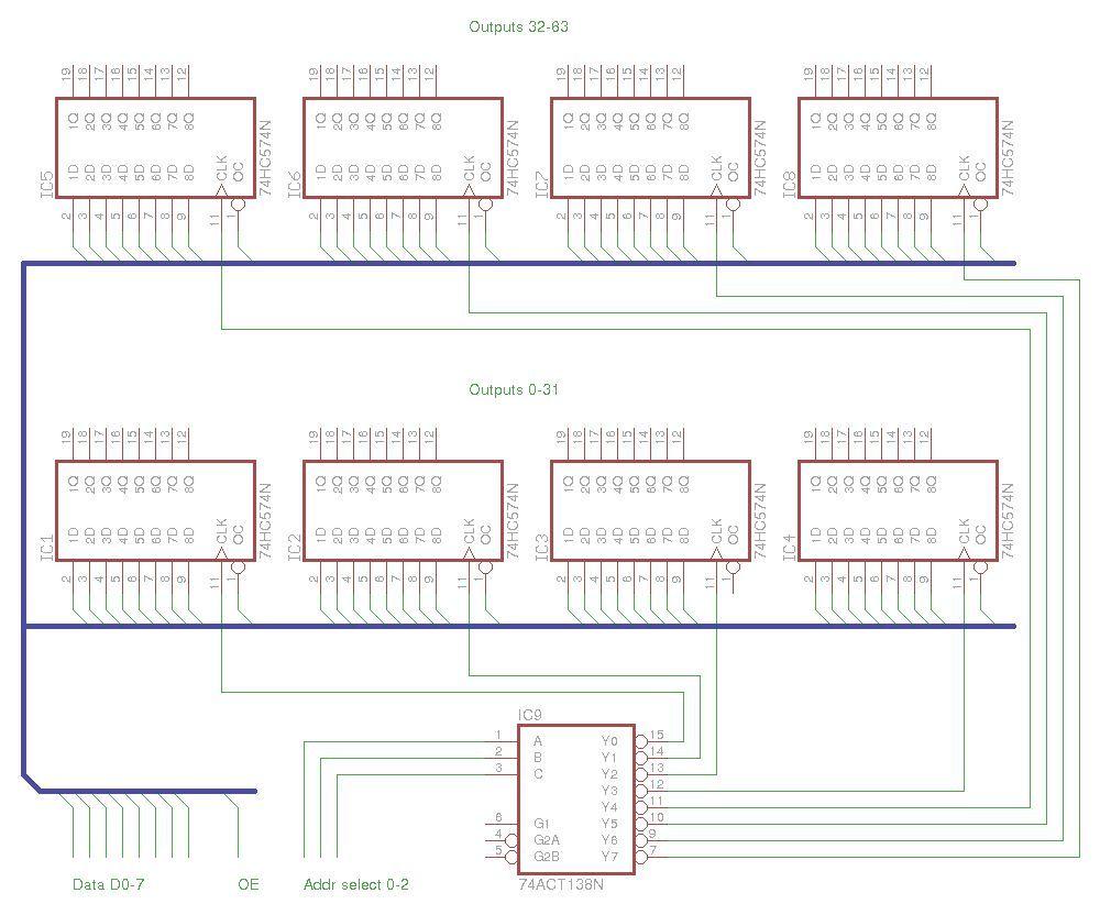 Led Cube 8x8x8 Circuit Diagram Led Cube