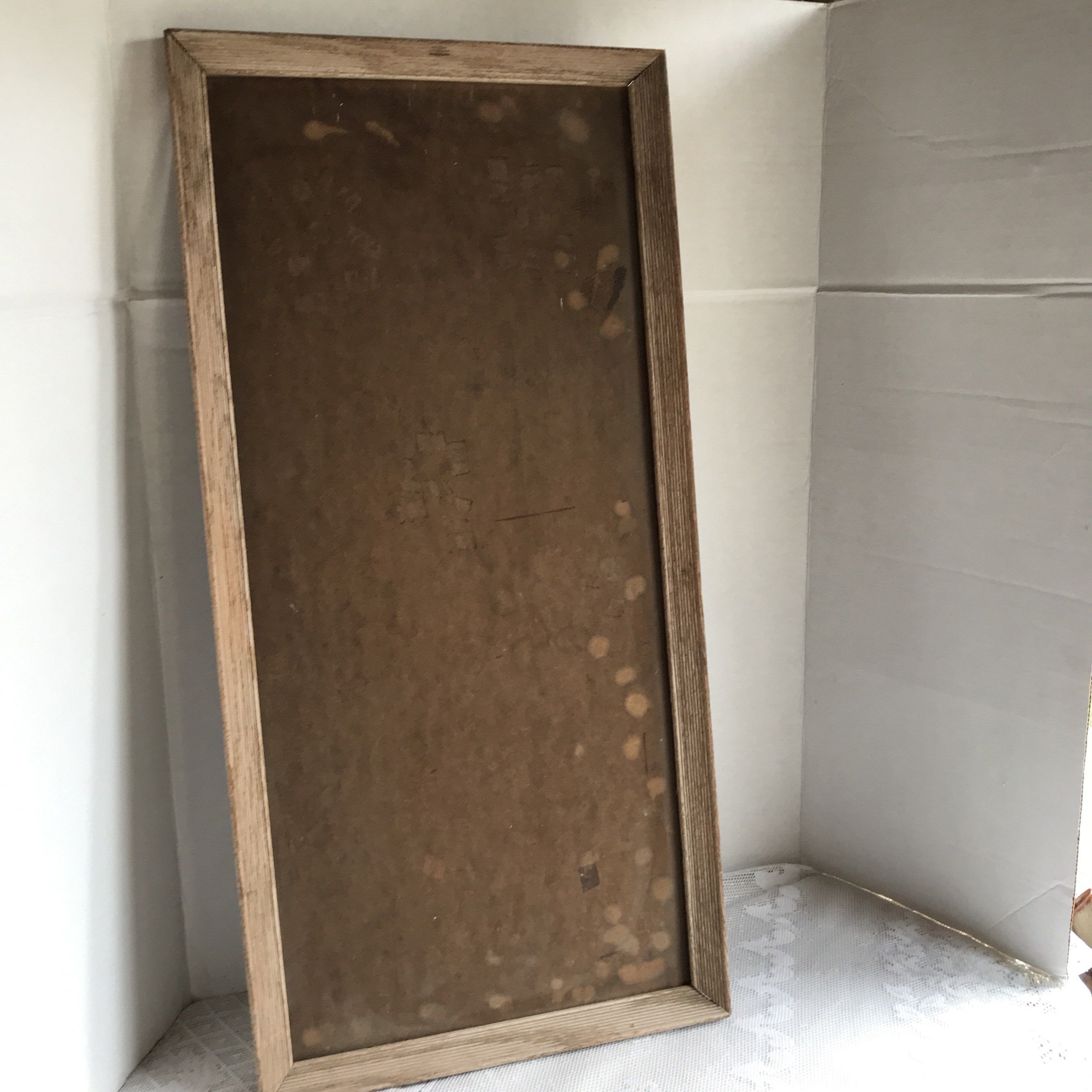 Vintage Light Brown Wooden Picture Frame With Backing 11 X 24 Inch Wood Frame Wooden Picture Frames Wooden Picture Picture Frames