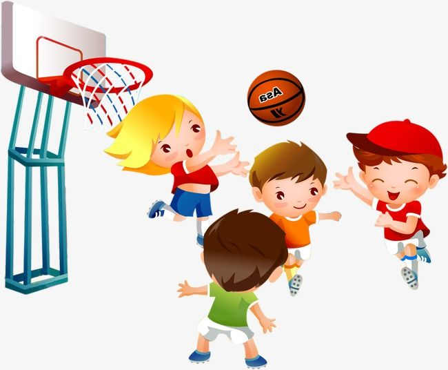 Kids Playing Basketball Child Basketball Game Png Image