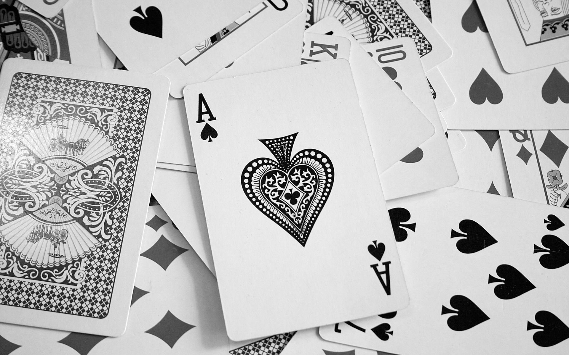 Card Poker Hd Desktop Wallpaper Ace card, Spades card