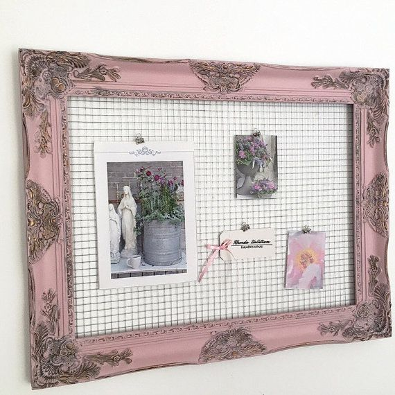 French shabby chic style chicken wire frames by HallstromHome http ...