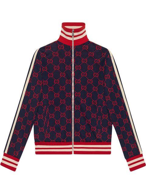 65c6398a8ac0 GUCCI GG jacquard cotton jacket.  gucci  cloth     stylebop ...