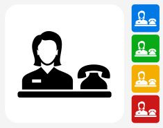 Hotel Receptionist Icon Flat Graphic Design Vector Art Illustration