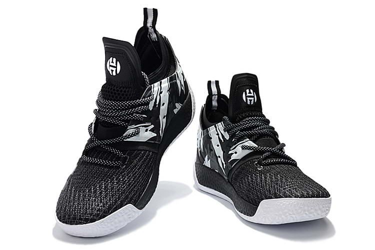c76ebf31d062 Adidas Harden Vol. 2 Basketball Shoes Black White