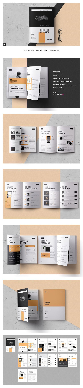 Creative clock background  Business Proposal Brochure Infographic  Brochure Infographic