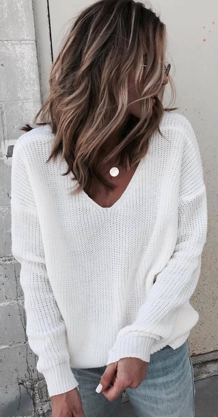 30 Winter Outfits That Are Crazy Cozy | White sweaters, Winter and ...