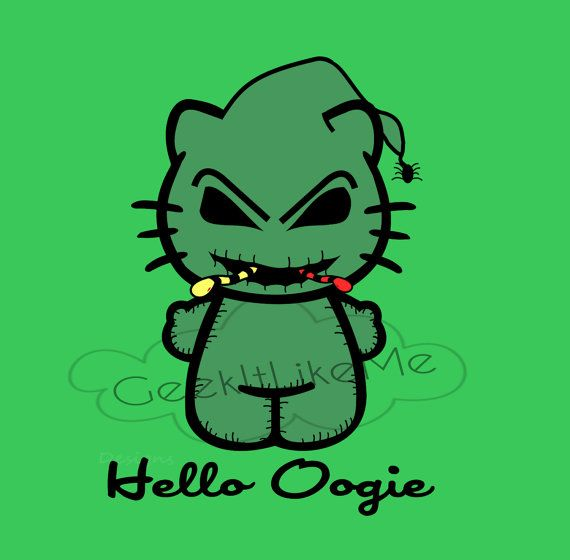 011d04a4d If your a Nightmare Before Christmas fan or Hello Kitty fan then this is  the sticker for you. Hello Kitty looks simply adorable as Oogie Boogie.