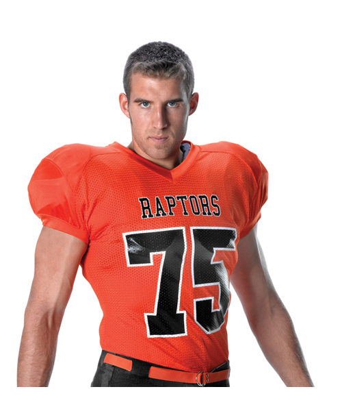2749f4f35 The 790ZN Football Jersey from Alleson Athletic is made from Stretch Mesh  with a Collegiate Cut