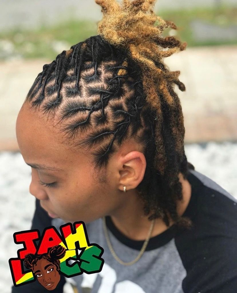 10 Short Loc Styles For Women In 2020 Locs Hairstyles Short Locs Hairstyles Short Dreadlocks Styles