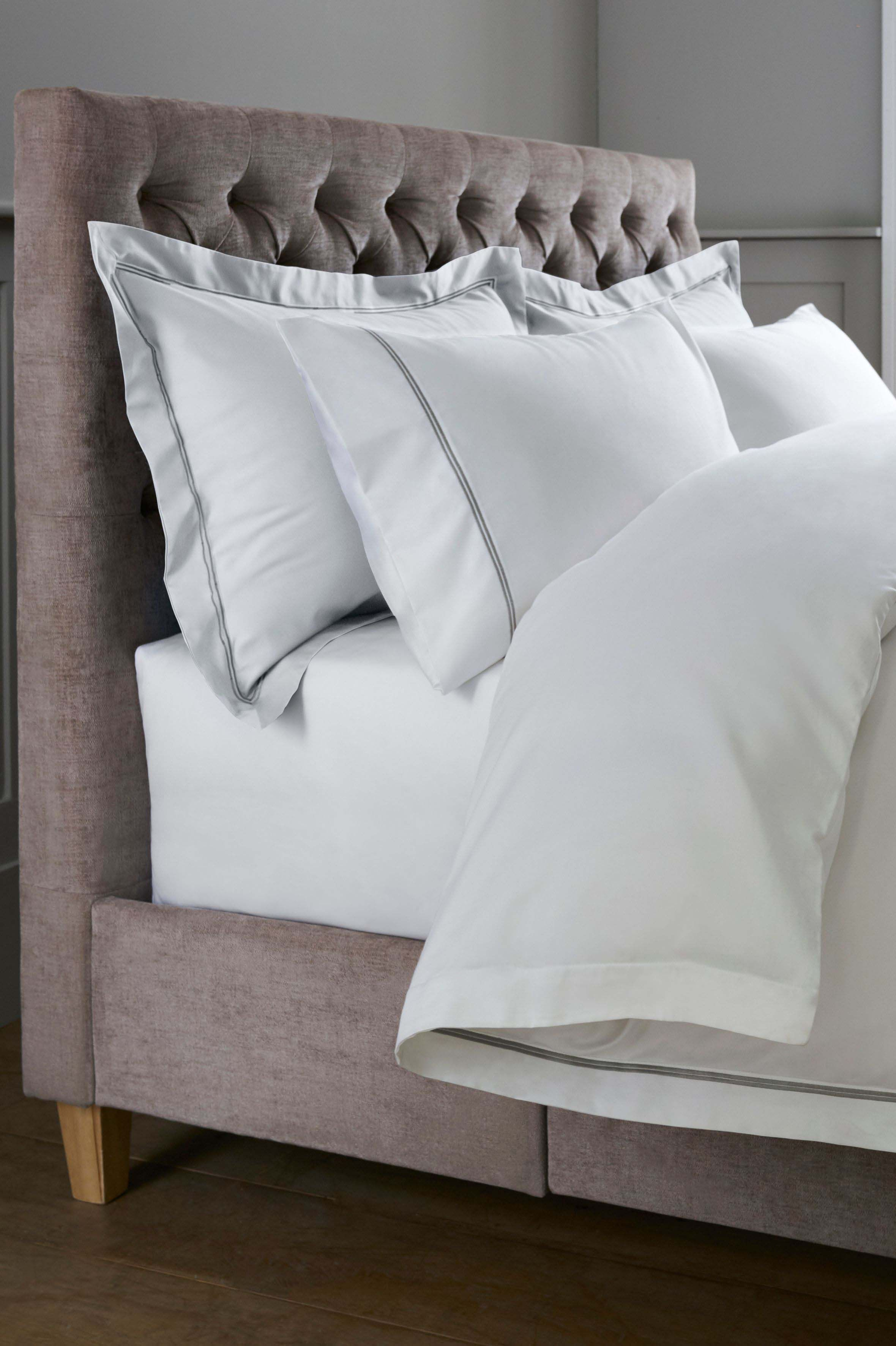5a28066003d Next 600 Thread Count Cotton Sateen Collection Luxe Bed Set - Grey ...