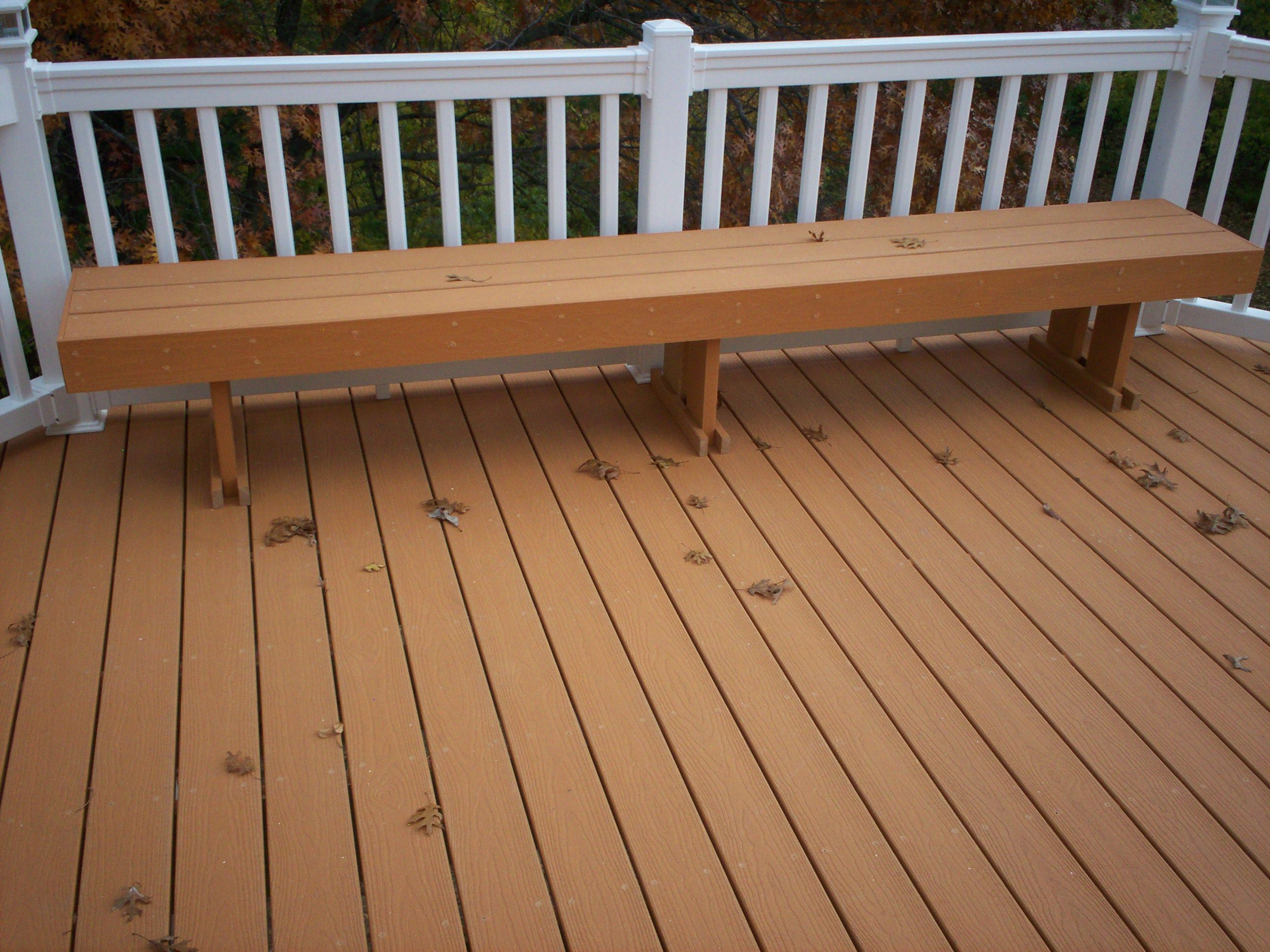 Composite Deck Bench Plans See 100s Of Deck Railing Ideas  Http://awoodrailing.