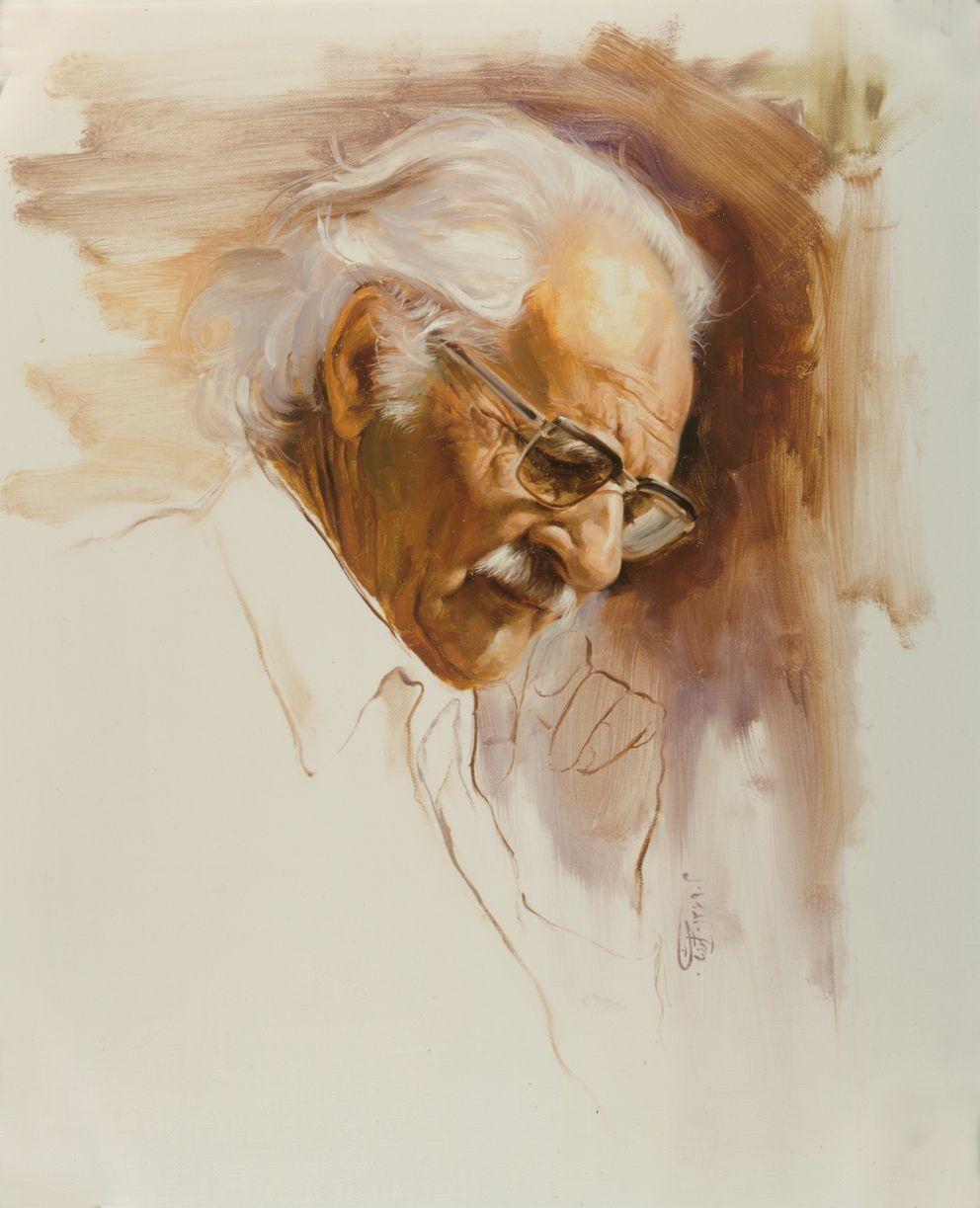 Ali Akbar Sanati.(Painter & Scuplptror).(1990) by artist Morteza Katouzian.