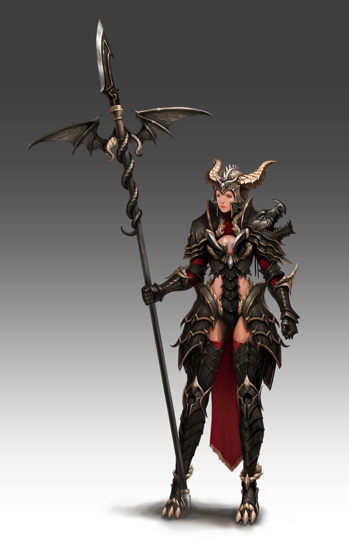 ArtStation - dragon lancer, Leika Jeon | Girlz&Character