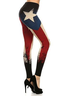 38293fdfe9 Details about BRUSHED Star Striped USA AMERICAN flag leggings S M L ...