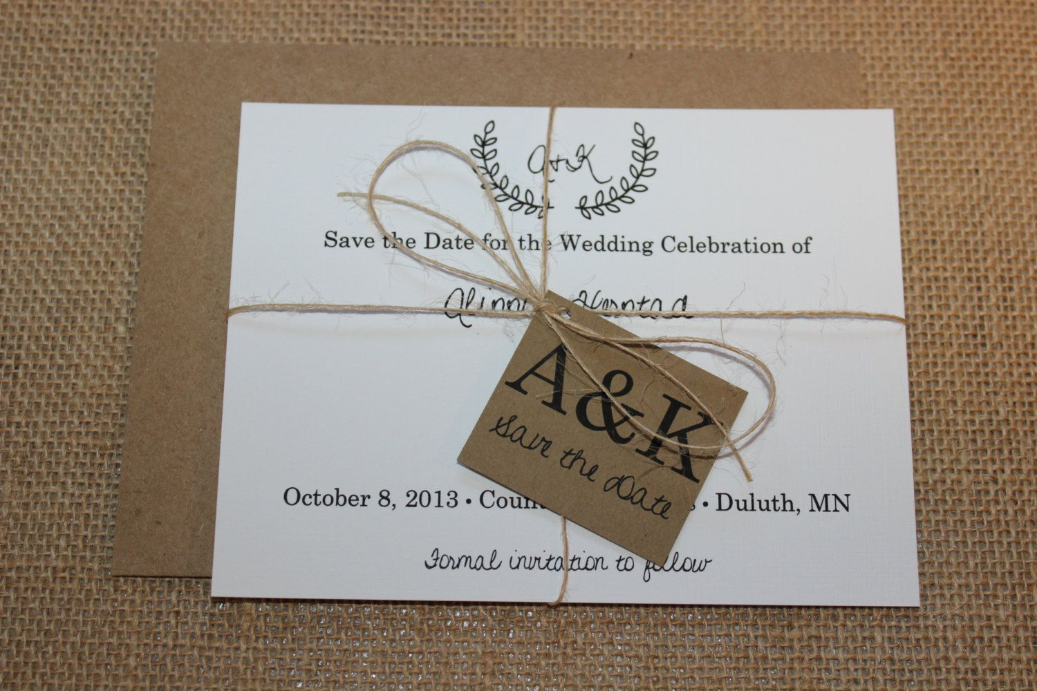 diy wedding invites rustic%0A Wedding Invitation Rustic Save the Date by PontoMountainPaper