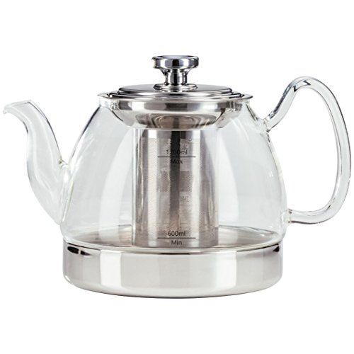 Judge Stove Top Glass Teapot With Infuser All Hob Types 12l