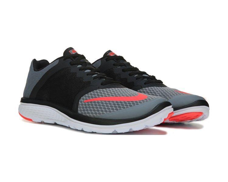 Nike FS Lite Run 3 Running Shoe Grey/Black/Red