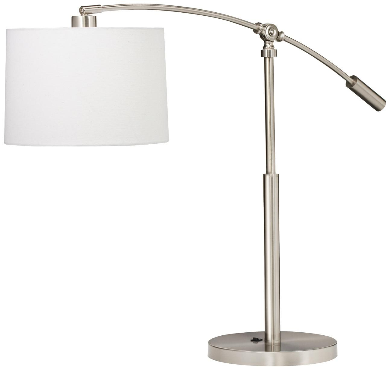 Kichler Cantilever Brushed Nickel Swing Arm Table Lamp P5869 Lamps Plus Table Lamp Lamp Contemporary Table Lamps