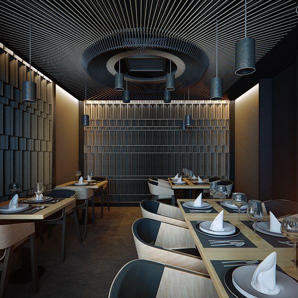 YOKO restaurant on Behance Oleksii Komarov Pinterest - innovatives decken design restaurant