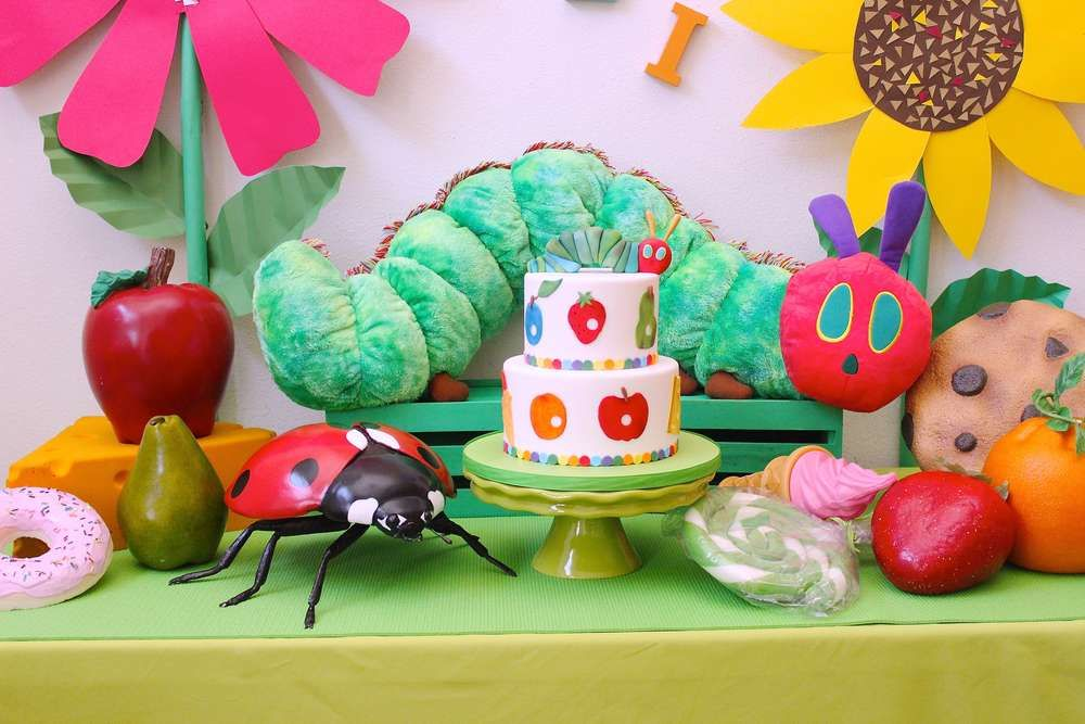 Amazing Very Hungry Caterpillar birthday party! See more party ideas at CatchMyParty.com!