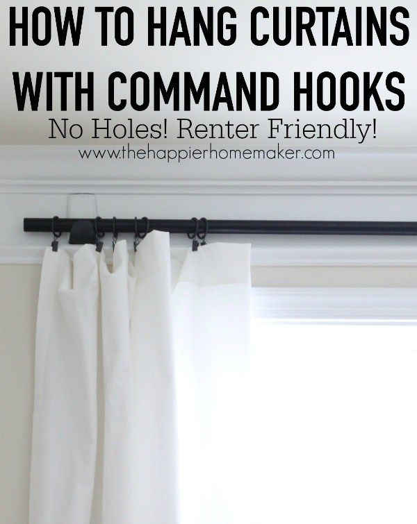 How To Hang Curtains With Command Hooks For The Sheer