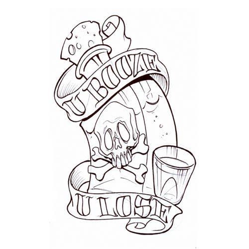 Tattoo Flash Line Drawing Converter : Rose tattoo designs poison skull design