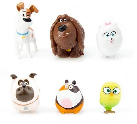Secret Life Of Pets Cake Topper Max Duke Gidget Mel Sweetpea Norman 6 Figure Set Birthday Party Figurines Fast Shipping Toy Doll Set With Images Animal Cake Topper Secret