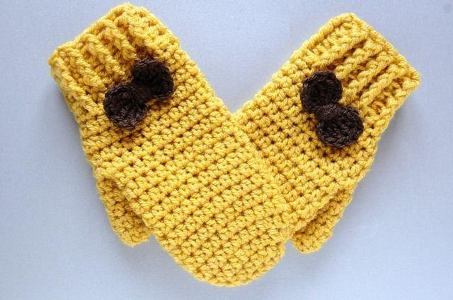manoplas tejidas en ganchillo de Pequeñas Cucadas por DaWanda.com ...