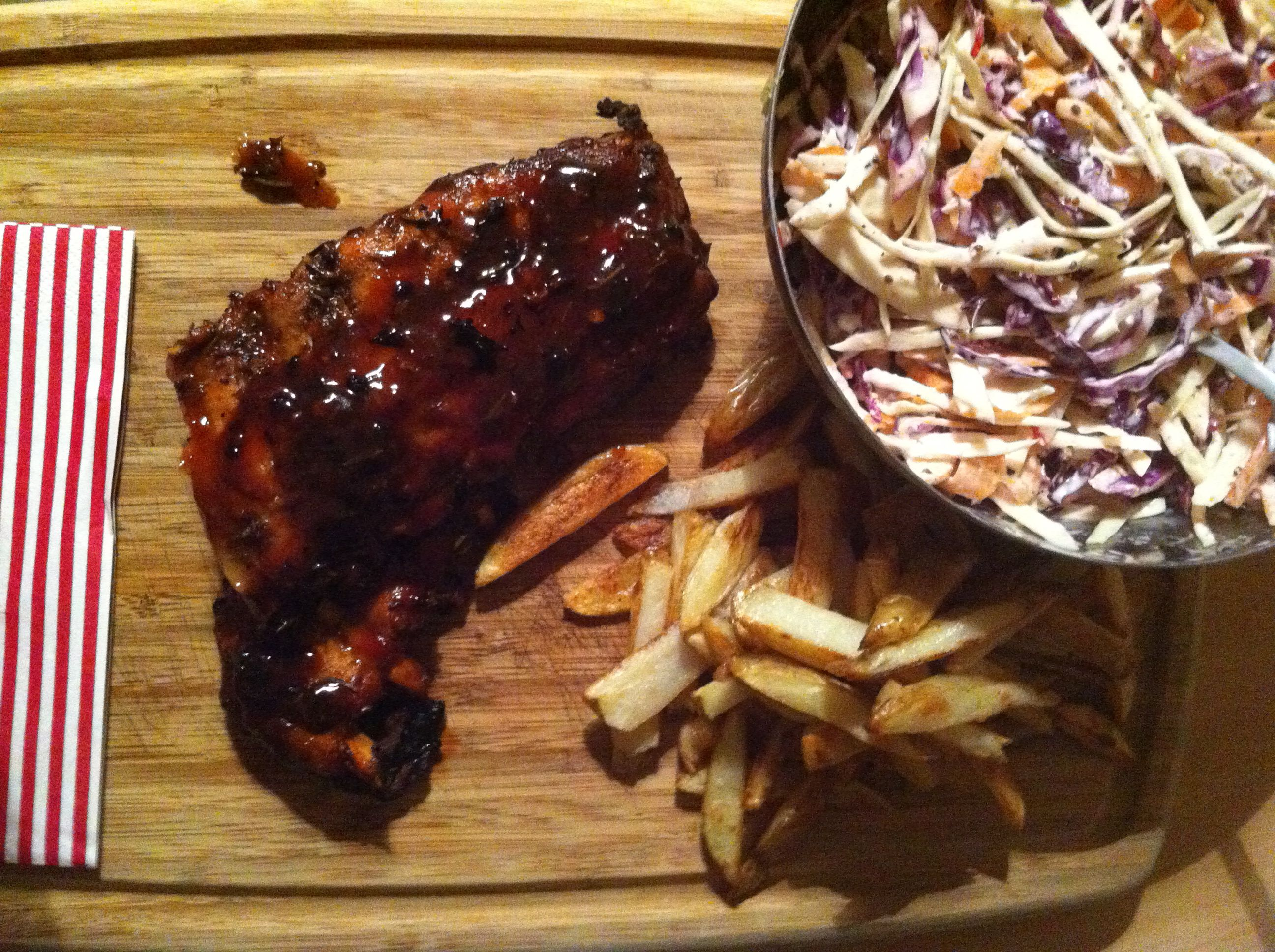Jamie's Sticky Ribs Recipe Plus My Favourite Simply Homemade Wonky Fries  And Coleslaw
