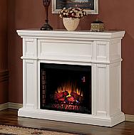 Great 52u0027u0027 Artesian White Electric Fireplace