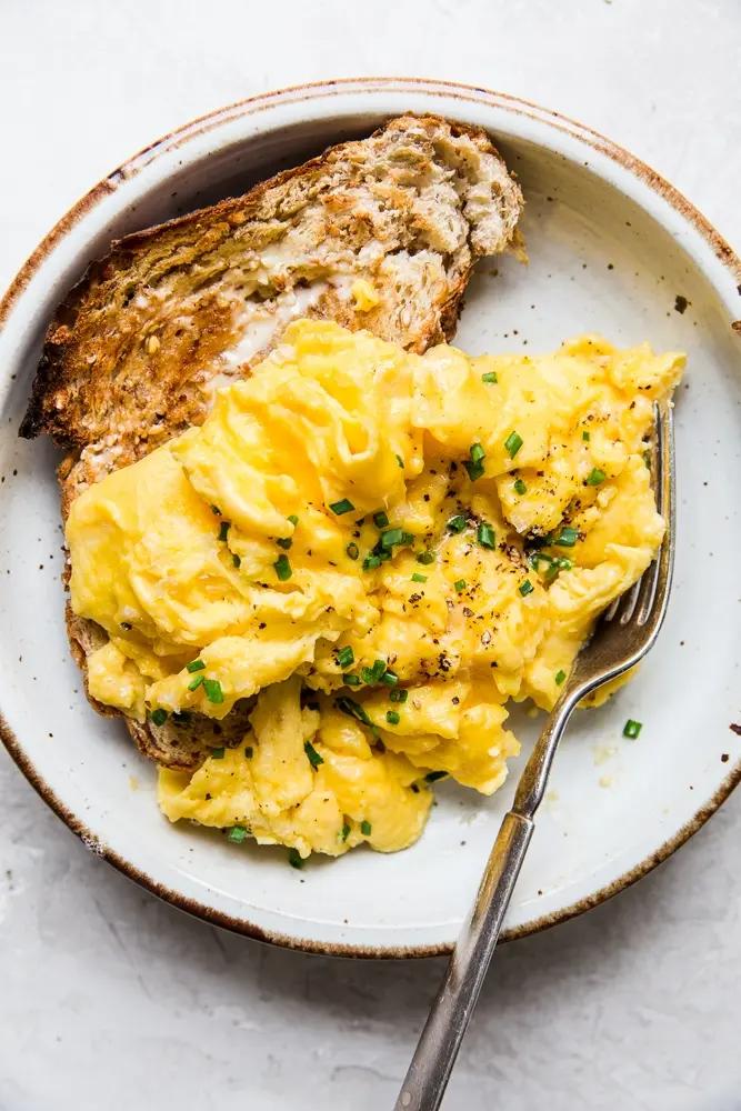Soft Scrambled Eggs The Modern Proper Recipe In 2020 Recipes Food Breakfast Recipes