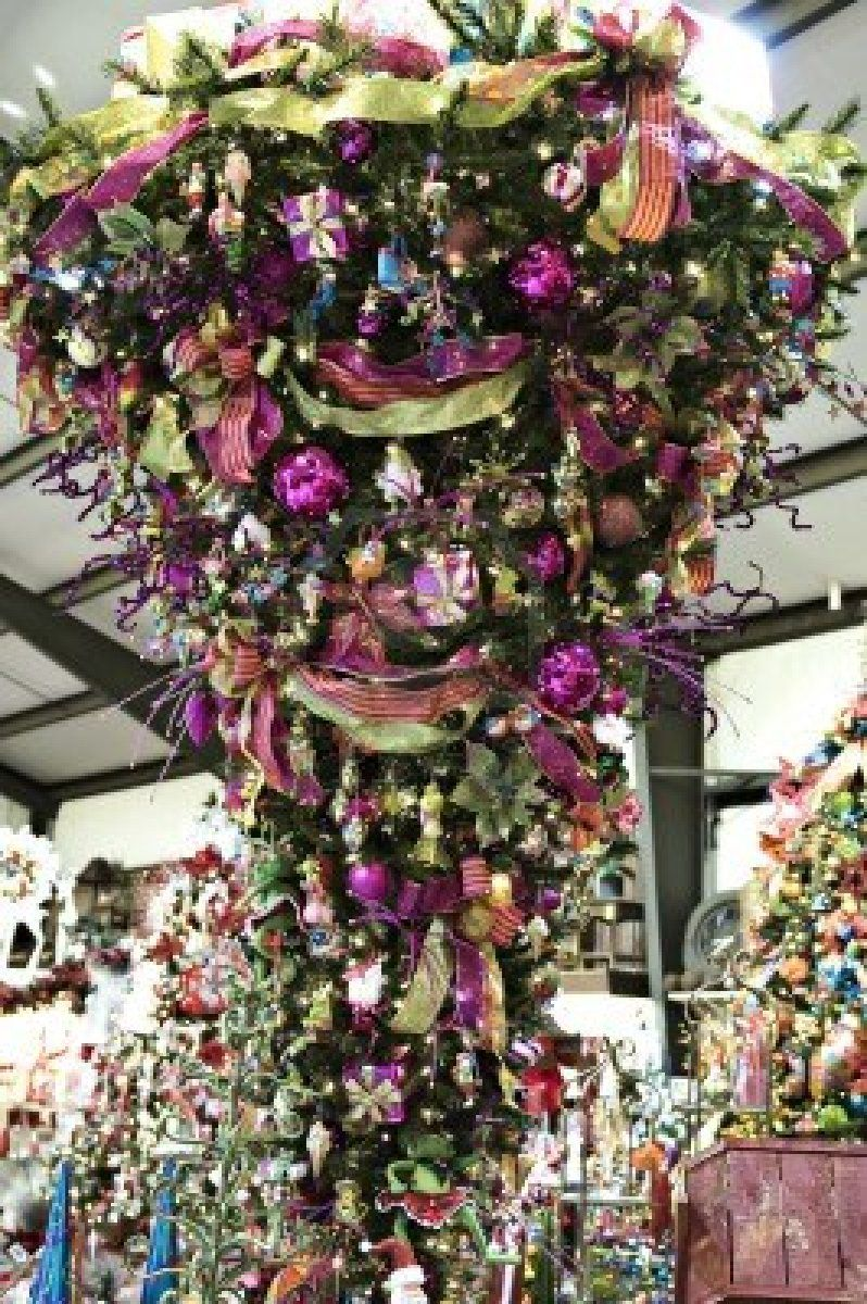 Stock Photo   Hanging christmas tree, Upside down christmas tree, Creative christmas trees