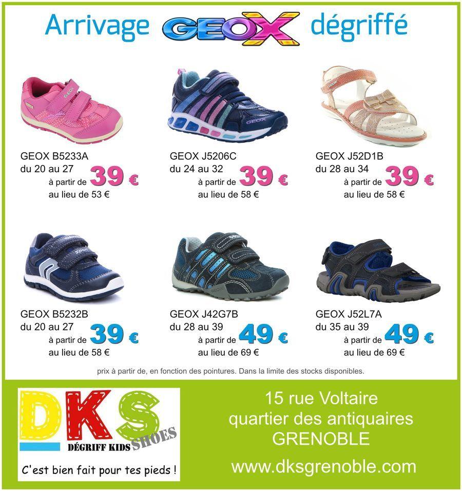 44be6c2fa4e Arrivage GEOX à prix dégriffés   du 20 au 39 - à partir de 39€ DKS Degriff  Kids Shoes   chaussures dégriffées pour   enfant à   Grenoble . ...