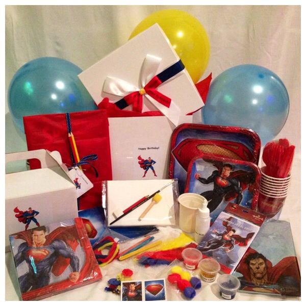 Superman Themed Birthday Party Box