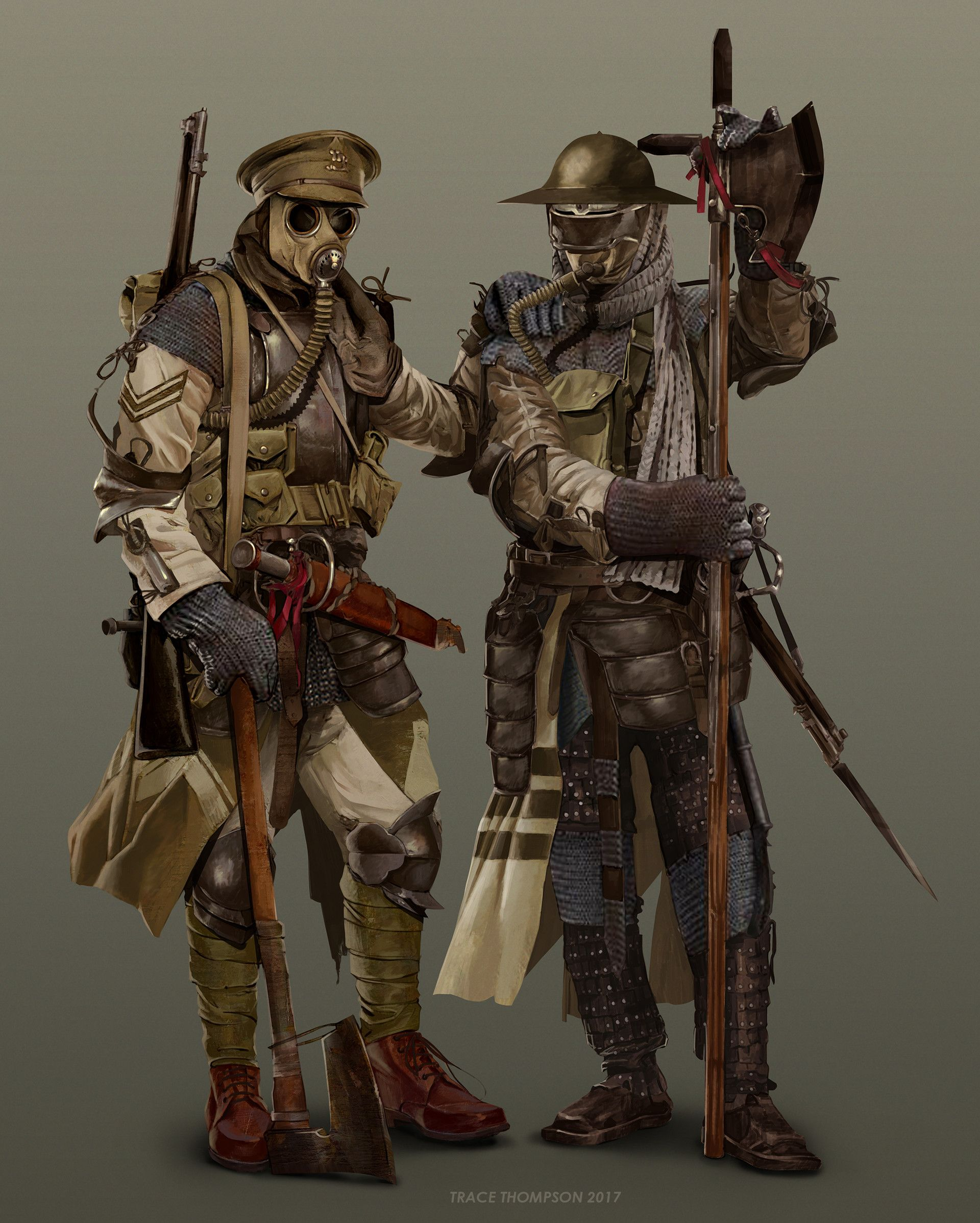 WW1 Trench Knight by Trace Thompson on ArtStation. | art ...