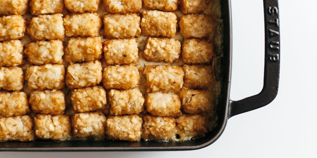 Chicken Pot Tot Hotdish | Recipe (With images) | Tater tot ...
