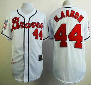 best website 6e1b4 cc754 cleveland indians 44 hank aaron 1948 hall of fame white ...